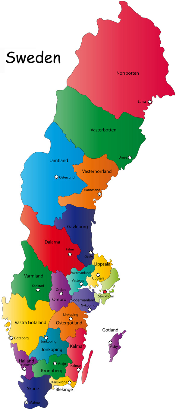 Printable Map Of Sweden Printable Maps - Sweden map printable